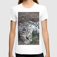 snow leopard T-shirts featuring Snow Leopard by Kaleena Kollmeier