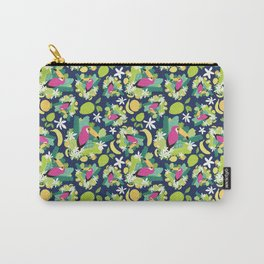 Toucans Everywhere - Blue Carry-All Pouch