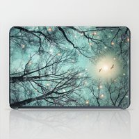 fault iPad Cases featuring Nature Blazes Before Your Eyes (Mint Embers) by soaring anchor designs