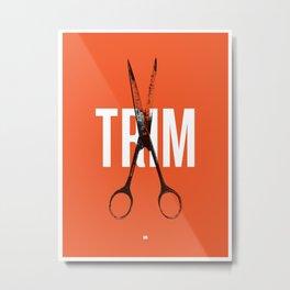 Barbershop Design Ethos / Trim Metal Print