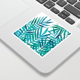 Watercolor Palm Leaves on White Sticker