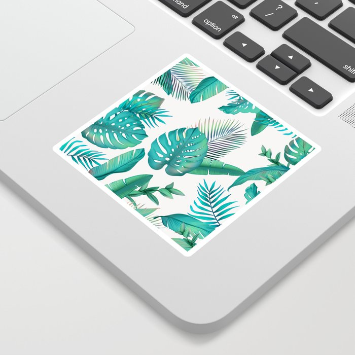 Tropical leafs pattern Sticker