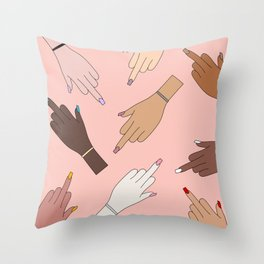 Worldwide Babes Throw Pillow