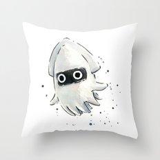 Blooper Squid Mario Watercolor Geek Art Throw Pillow