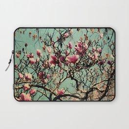 Pink Japanese Magnolia Tree in Flower Laptop Sleeve