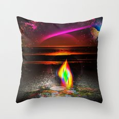 Our world is a magic - Sunset Throw Pillow