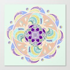 Daisy Lotus Meditation Canvas Print