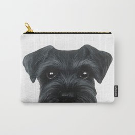 New Black Schnauzer, Dog illustration original painting print Carry-All Pouch