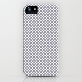 Lilac Gray and White Polka Dots iPhone Case