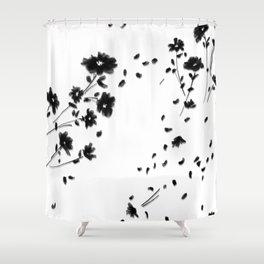 Large Daisy Design Shower Curtain
