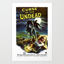 Curse of the Undead, 1959 (Vintage Movie Poster) Art Print