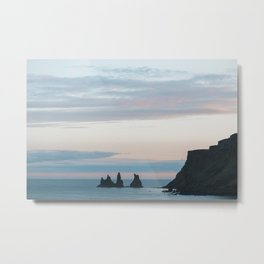 Sunset landscape in Vík í Mýrdal - landscape photography Metal Print
