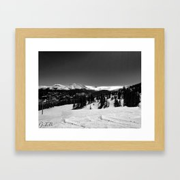 Colorado in Black and White Framed Art Print