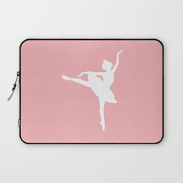 Pink and white Ballerina Laptop Sleeve