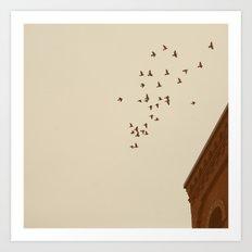 Flying Home Art Print
