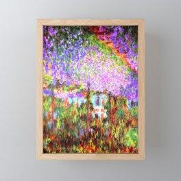 Monets Garden in Giverny Framed Mini Art Print