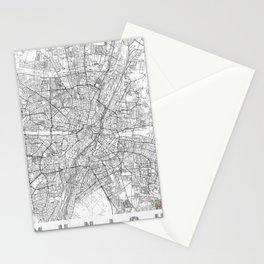 Munich Map Line Stationery Cards