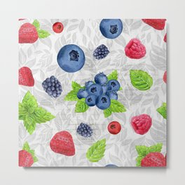 Berries Pattern 03 Metal Print
