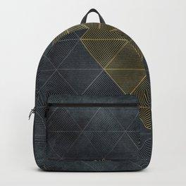 Charcoal Diamonds and Hexagons Backpack