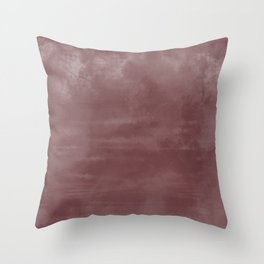 Burst of Color Pantone Red Pear Abstract Watercolor Blend Throw Pillow