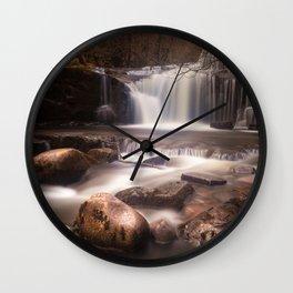 Blaen y Glyn Waterfalls Wall Clock