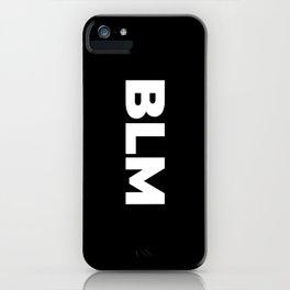 BLM (Black Background) iPhone Case