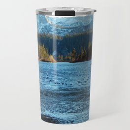 Convict Lake in the winter Travel Mug