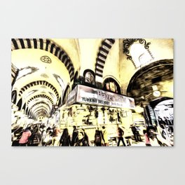 Spice Bazaar Istanbul Art Canvas Print