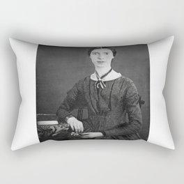 Emily Dickinson Portrait Rectangular Pillow