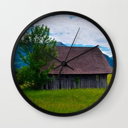 Little Cottage Shed Wall Clock