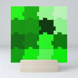 green puzzle Mini Art Print