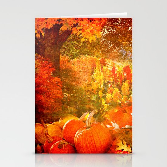 Autumn Collage Stationery Cards