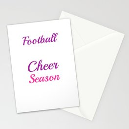 Football What Boys Do During Cheer Season Funny T-shirt Stationery Cards
