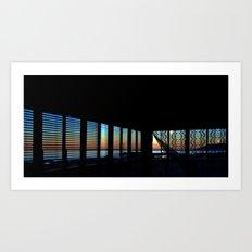 Dawn Through the Windows Art Print