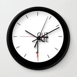 Out of time, clock noose Wall Clock