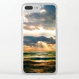 Florida Emerald Coast Sunset II Clear iPhone Case