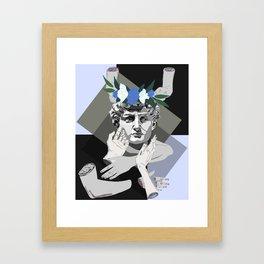 Blue David Framed Art Print