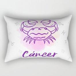 Zodiac signs collection - Cancer Delvallediseno Rectangular Pillow