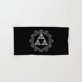 Triforce Aztec White Pattern Hand & Bath Towel