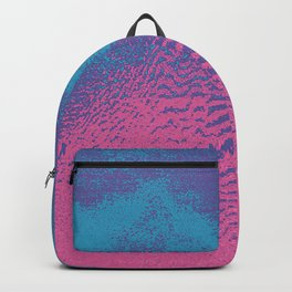 Pink Blue Abstract Glitch Texture Backpack