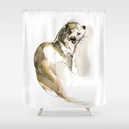 Totem Eurasian River Otter Shower Curtain