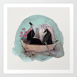 Funeral Boat Art Print
