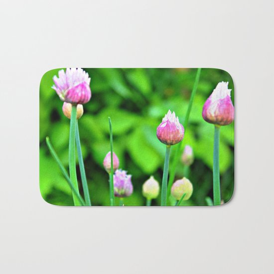Flowering Chives Bath Mat