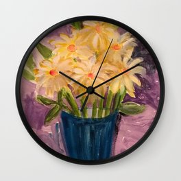 Everything is coming up Daisies Wall Clock