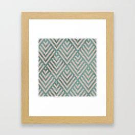 ROMBI PINK & GREEN Framed Art Print