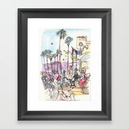 A Day at Venice Beach Framed Art Print