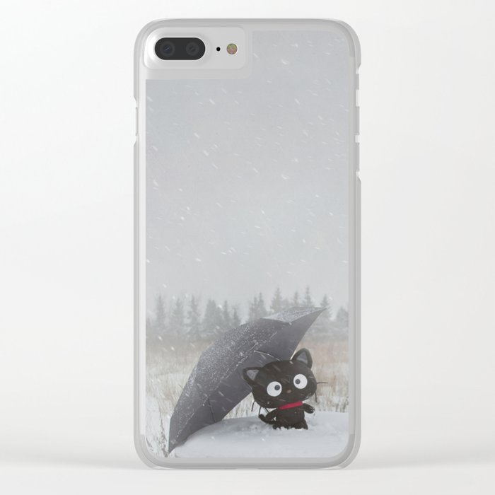 Winter Adventures Clear iPhone Case