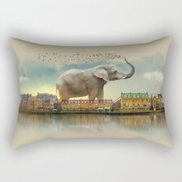 Travelling elephant Rectangular Pillow