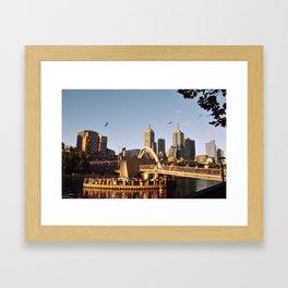 Sunset in Melbourne Framed Art Print