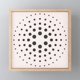 Mid-Century Modern Art - Bubblegum Spiral Dots Framed Mini Art Print